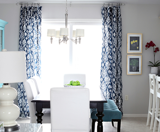 Image result for blue ikat curtains