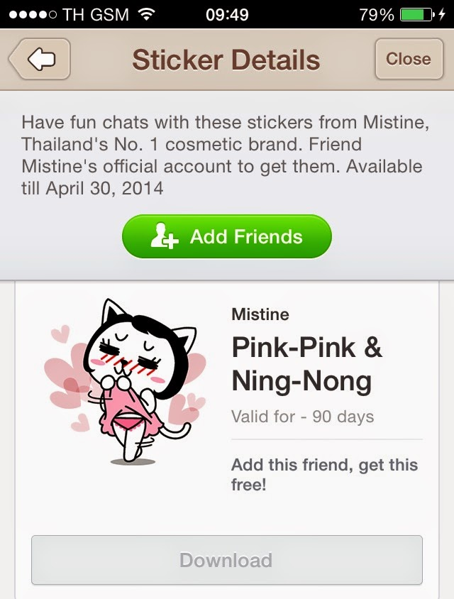 Pink -Pink and Ning-Nong line stickers