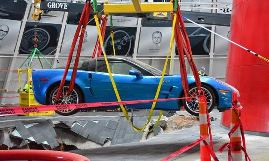 Chevy Sinkhole Survivor Drives into the National Corvette Museum