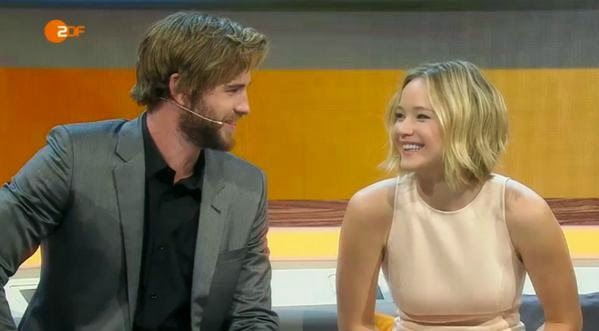 jennifer lawrence liam hemsworth wetten dass mockingjay part one
