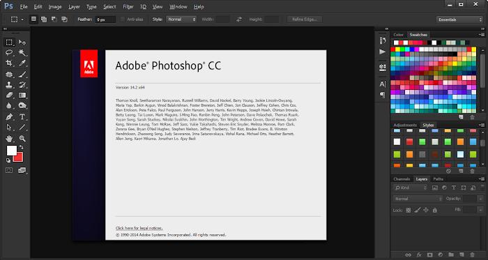 Screenshot Adobe Photoshop 14.2
