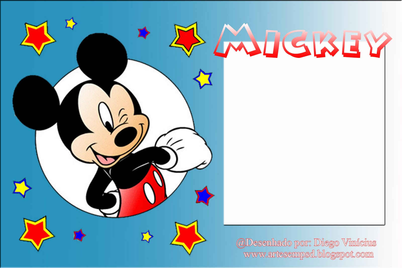 03 Molduras do Mickey Mouse em PNG