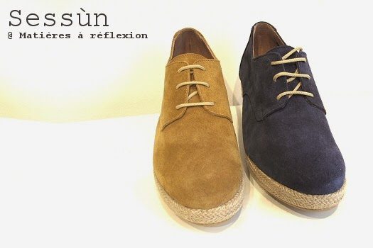 Derbies Sessun daim bleu marine Bloom