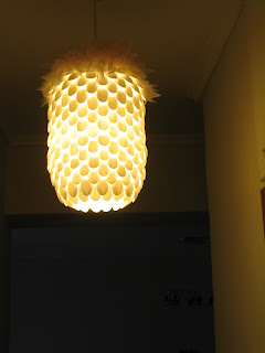 plastic spoon lamp