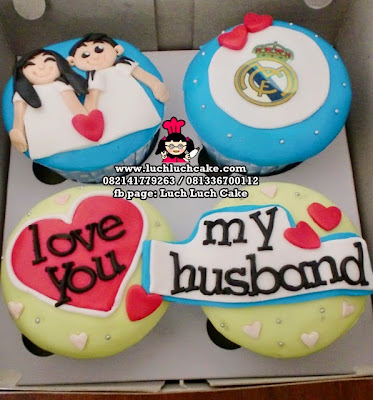 Cupcake 2d Real Madrid Romantis Cupcake Couple