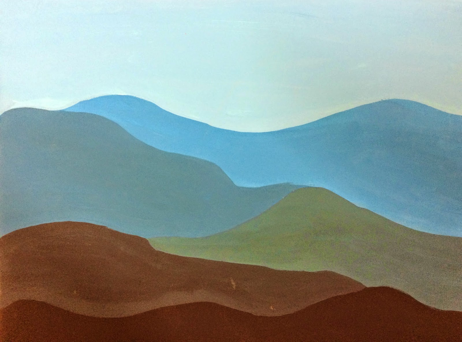 8th Grade Color Value Landscapes | Mrs. Boydston's SpARTan ...