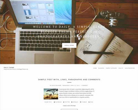Daily Free Blogger Template