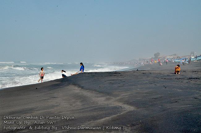 Deburan Ombak Di Pantai Depok || Fotografer & Editing By : Vishnu Darmawan ( Klikmg ) , Fotografer Purwokerto, Fotografer Jakarta, Fotografer Indonesia, Fotografer Banyumas, Fotografer Jawa Tengah
