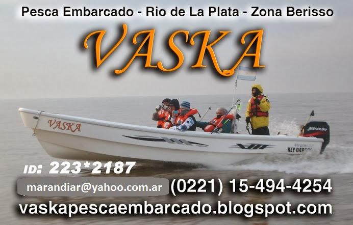 VASKA PESCA EMBARCADO GUIA DE PESCA EN BERISSO - MARTIN ARANDIA