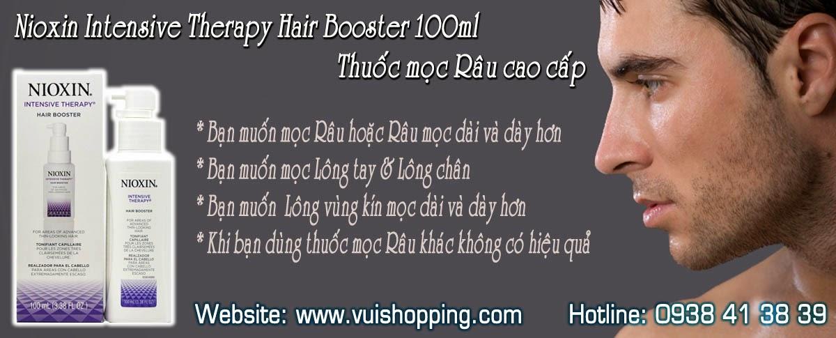Nioxin Intensive Therapy Hair Booster 100ml, Thuốc mọc râu cao cấp