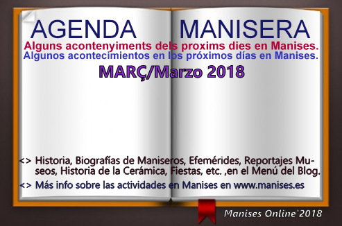 AGENDA MANISERA, MARZO 2018