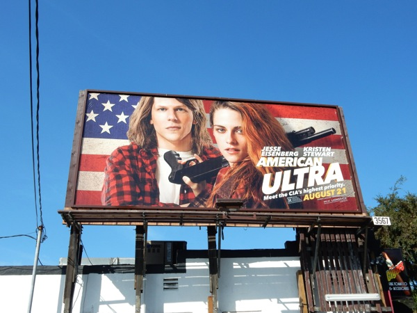 American Ultra movie billboard