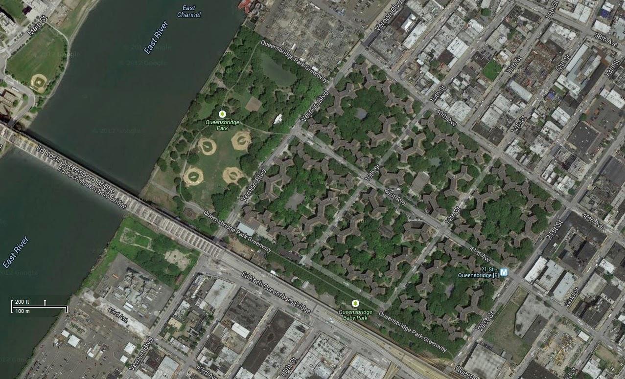 Queensbridge Houses with Google Maps.