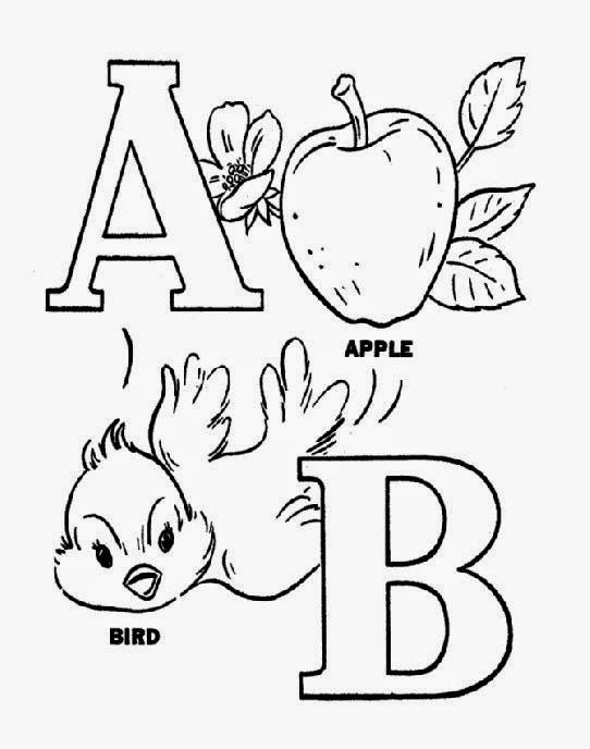 Easy Alphabet Coloring Pages