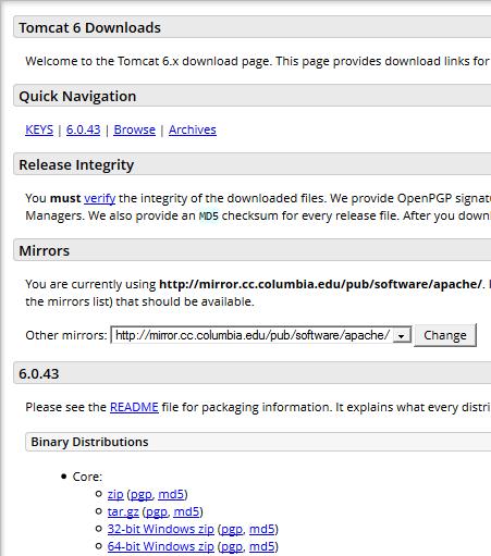 Bagaimana Cara Instalasi Apache Tomcat 6.0 di Windows
