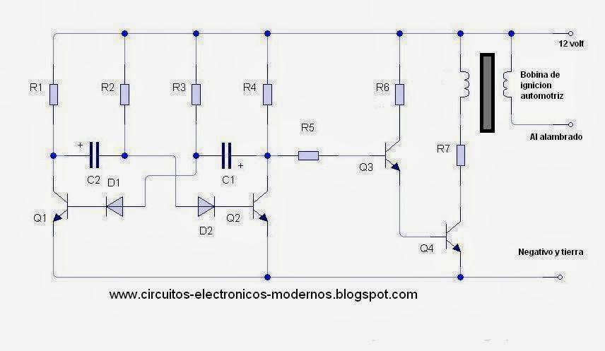Circuito Eletricos : Circuitos electronicos modernos circuito electrificador
