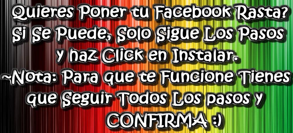 Poner Facebook Rasta