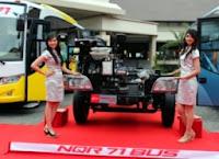 Exhaust Rem banyak diaplikasikan  pada bus dan Truck Medium