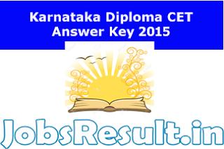 Karnataka Diploma CET Answer Key 2015