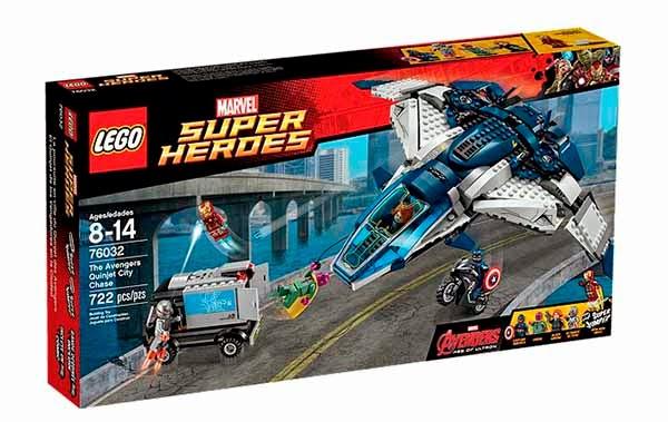 Lego: El Quinjet de los Vengadores en la Ciudad