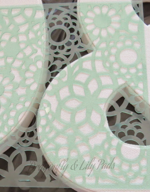 Stencil from Heidi Swapp for Denim Art for the Craft Room