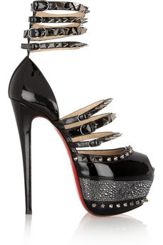 Christian Louboutin 20th Anniversary Isolde patent-leather sandals
