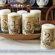 DIY Meseros velas románticos vintage
