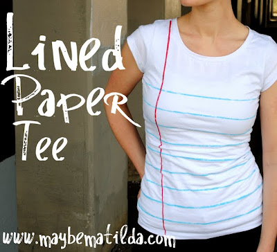 Lined Paper T-shirt tutorial