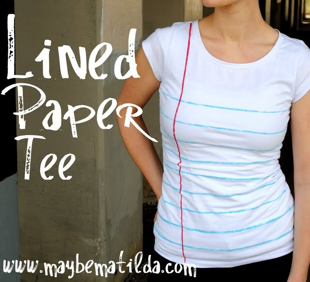 Of Pinks And Fairy Tales Lined Paper Tee From Maybe Matilda