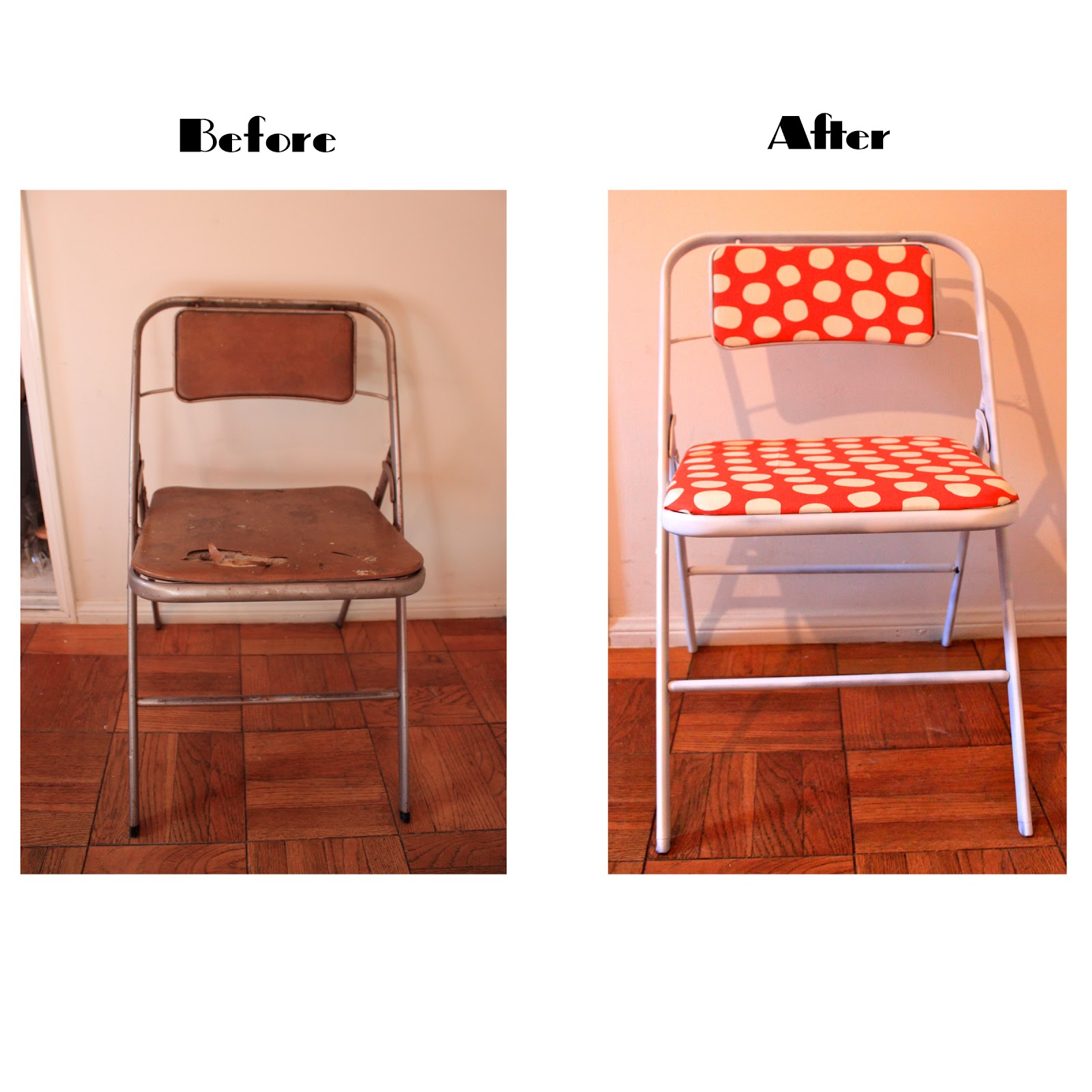 Vintage Samsonite Folding Chairs Get A Makeover Queen B