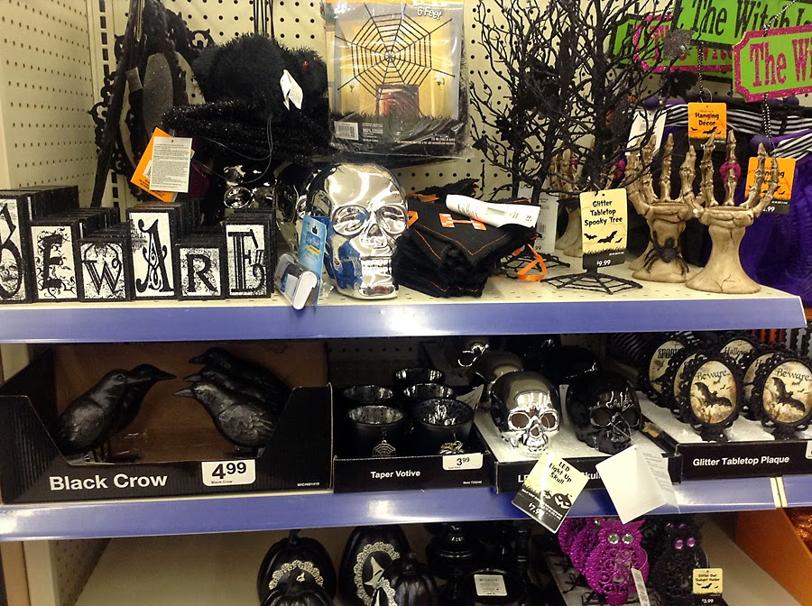 halloween at walgreens still setting up at this store but there were some cute black and white decorations the skull rings for 199 were pretty cool