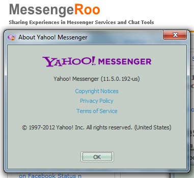 Yahoo Messenger 11.5 version 11.5.0.192