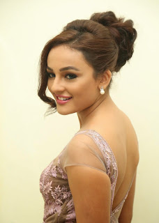 Actress Seerat Kapoor Pictures in Long Dress at Tiger Audio Launch 4.JPG