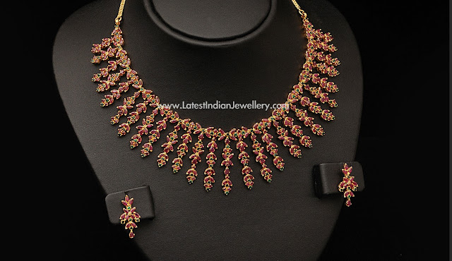 Stunning Bridal Ruby Necklace