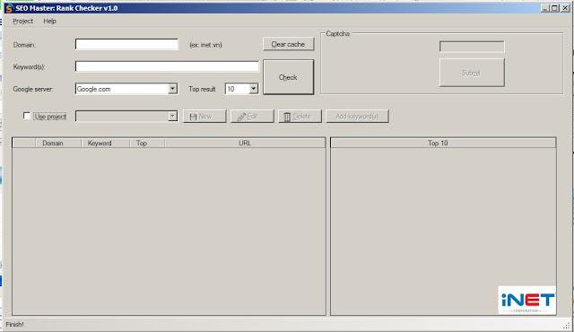 Hướng dẫn sử dụng phần mềm Seo Master Rank Checker V1.0