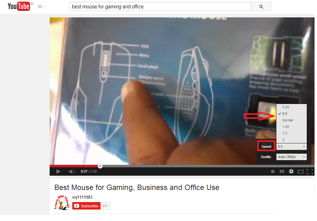 How to Play Youtube Videos in Slow and Fast Motion