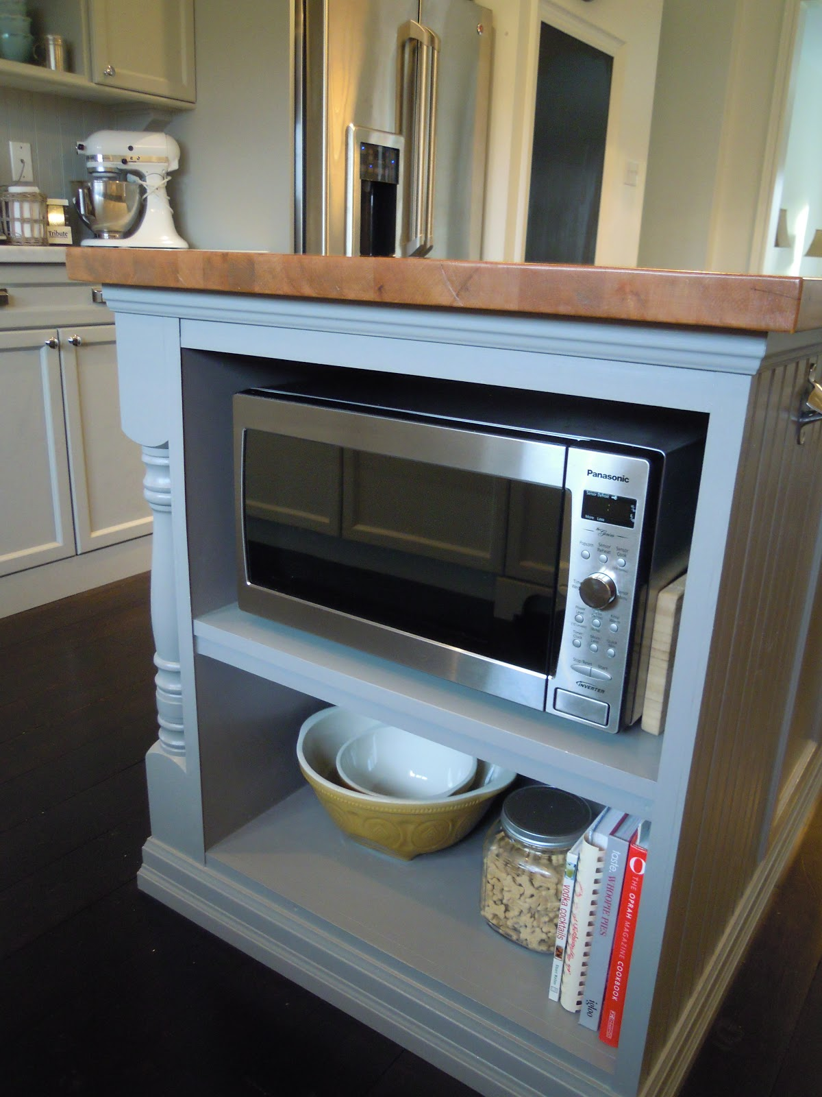 Microwave For Kitchen ~ White wood finally our completed kitchen from builder
