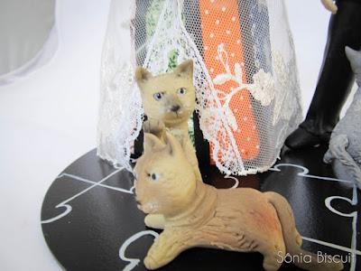 noivinhos, topo de bolo, biscuit, noivos