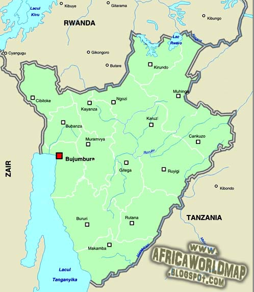 Burundi World Map And Information - Where is burundi on a world map