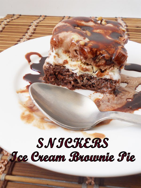 """Ice Cream """"Snickers"""" Brownie Pie 