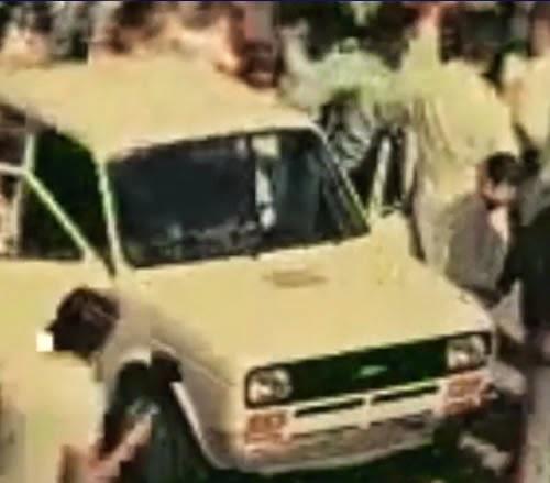 Propaganda do Fiat 147 onde o carro subiu e desceu as Escadarias da Penha (Rio de Janeiro) em 1976.