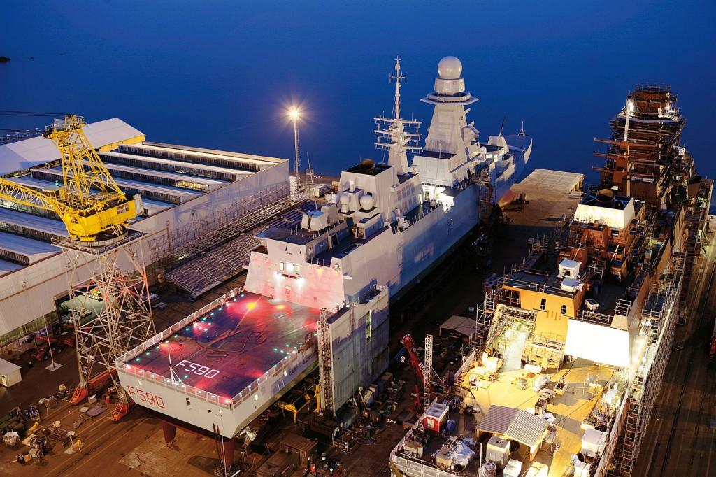 Fincantieri lança a primeira fragata italiana da Classe FREMM