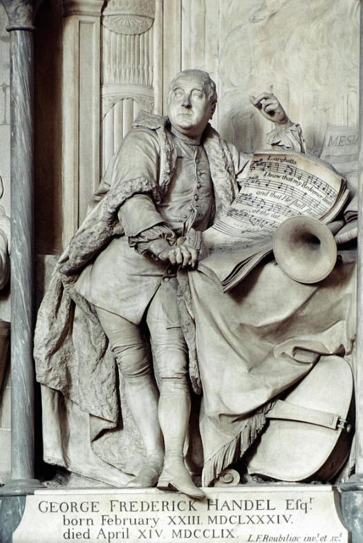 Roubiliac's monument to Handel