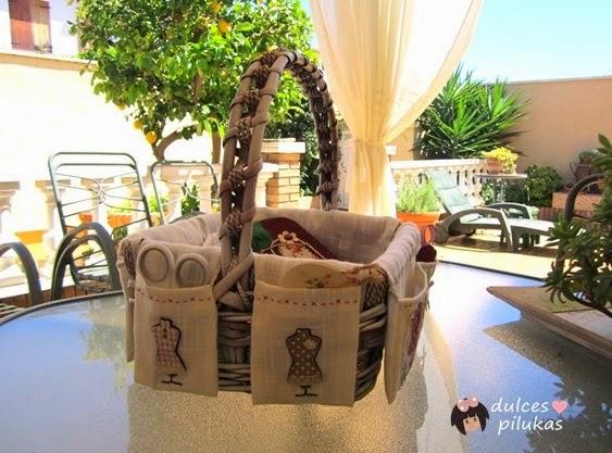 Ideas para organizar tu rincon de costura - Reciclar cestas de mimbre ...