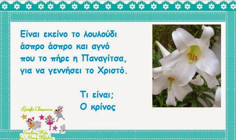 Αινίγματα για τα Λουλουδάκια