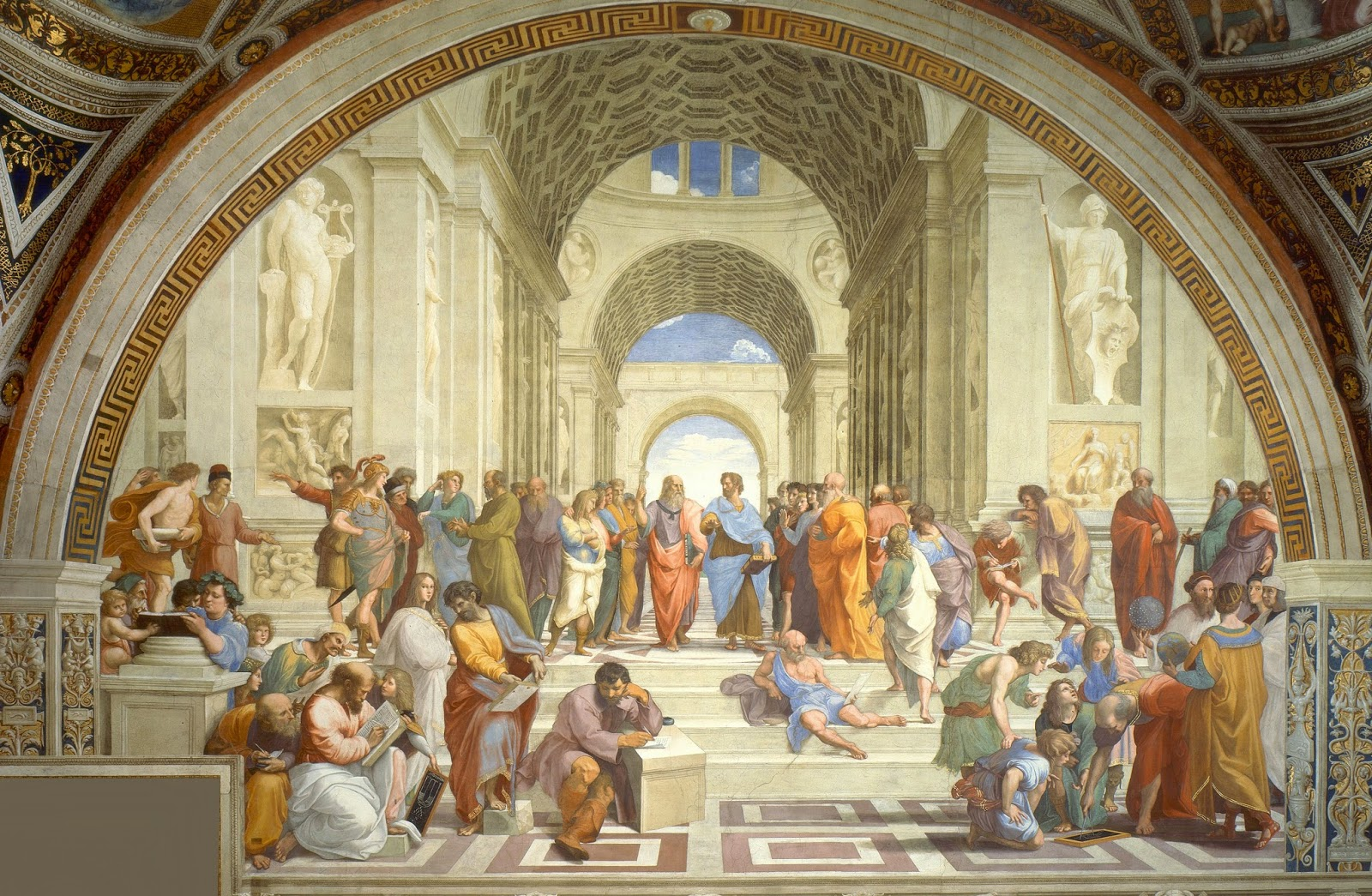 Raphael's School of Athens - The Key To Happiness, According To 3 Greek Philosophers