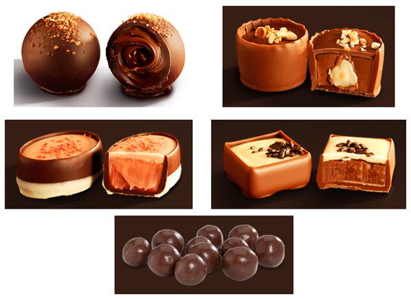 chocolates artesanais Cacau Show festival inverno bombons trufas drageados copinho