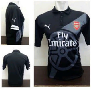 jual jersey bopla kualtias grade ori made in thailand Detail photo Jersey Prematch Arsenal warna hitam terbaru musim 2015/2016