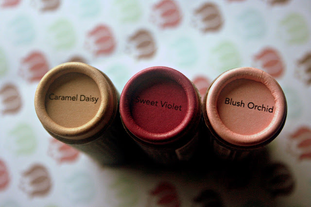 Burt's Bees Tinted Lip Balm Spring 2013 Sweet Voilet, Caramel Daisy, Blush Orchid, Review, Photos & Swatches