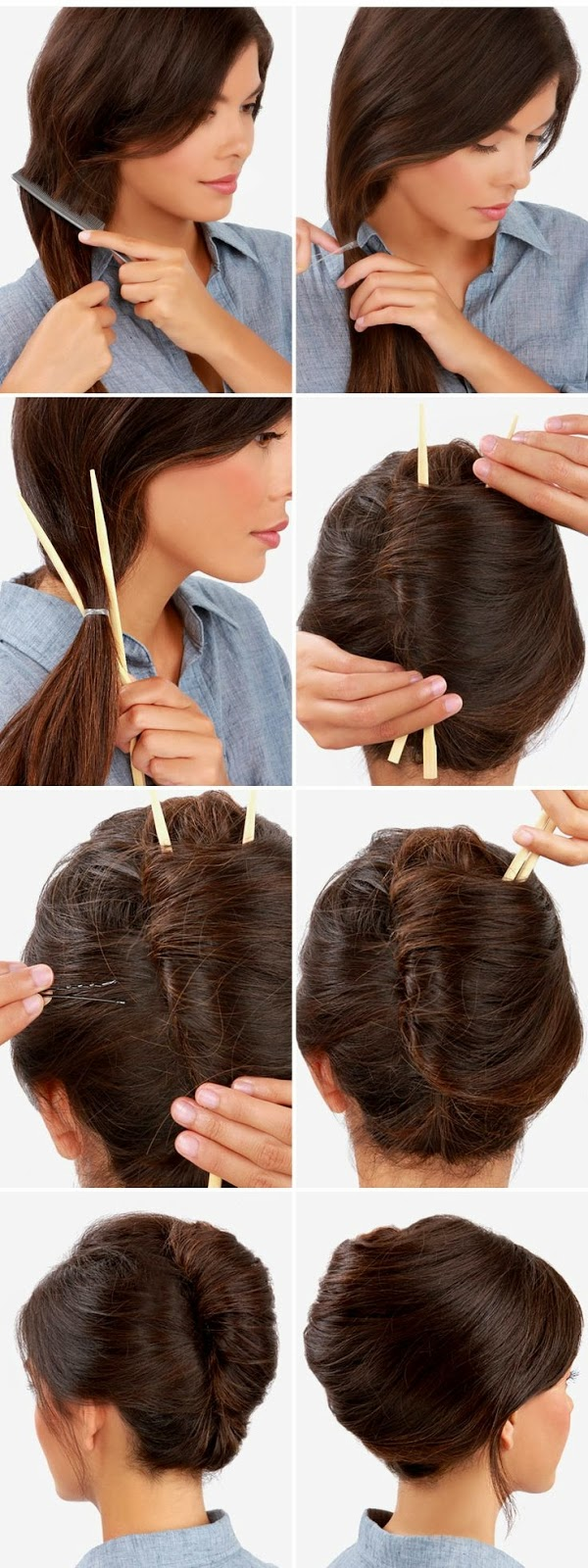 Hairstyles And Women Attire Twisted Bun Hair Tutorial